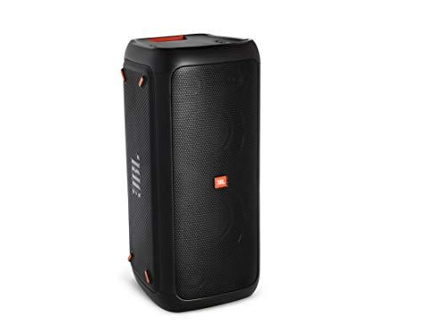 JBL PartyBox 200 - Altavoz con Bluetooth, efectos de luces, adaptador de corriente, Negro con salpicaduras