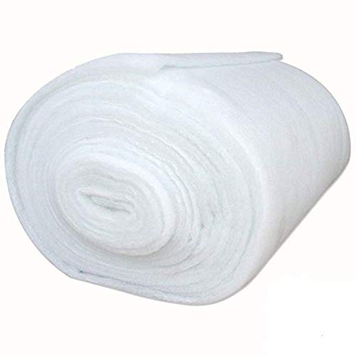 "LUVFABRICS Home Goods Quilt Batting Multipurpose Dacron Fiber Polyester Wadding Fabric 1/2"" Loft Upholstery Grade Padding (1 Yard)"