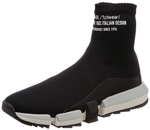 Diesel Herren H-PADOLA HIGH Sock-Sneak Turnschuh, schwarz, 42 EU