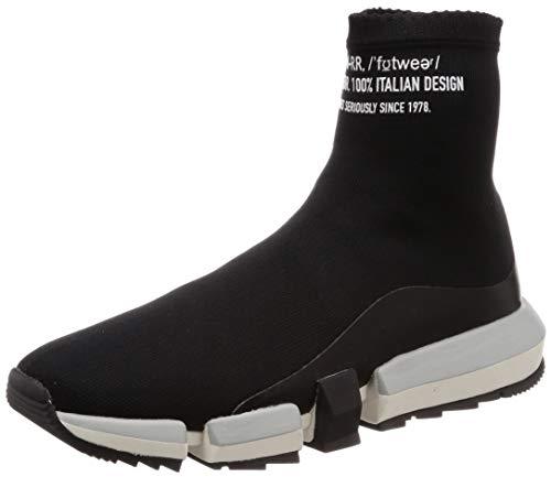 Diesel Herren H-PADOLA HIGH Sock-Sneak Turnschuh, schwarz, 46 EU