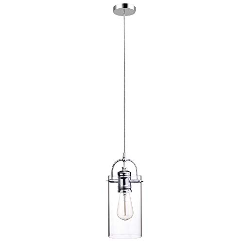 Globe Electric James 1-Light Plug-in or Hardwire Pendant,...