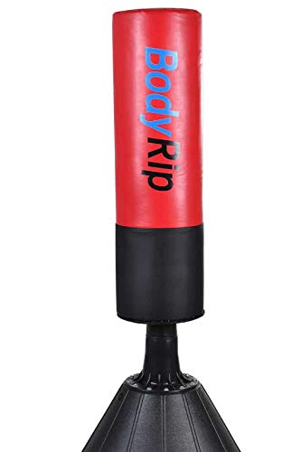 BodyRip Free Standing Punch Bags - Martial Arts, Kick Boxing, Thai, Karate, MMA | Fitness, workout, Multi Gyms for Home, Pedestal Dummy, Equipment Target, Heavy Duty | Straight (5.5FT)
