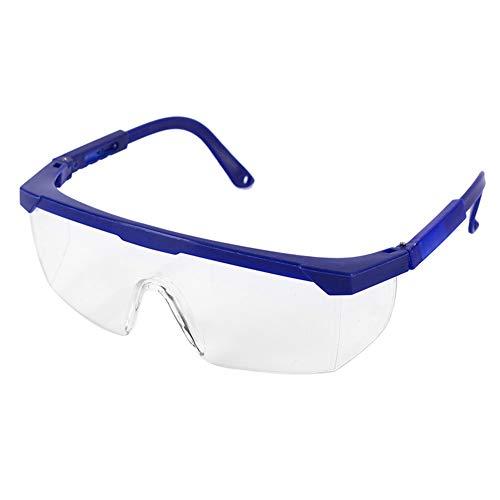 FOUTP Gafas de Seguridad Ocupacional Gafa Nitro Clara Antiempañante Cubregafas Protectoras Gafas de Seguridad con Lente Antirrayado y Antivaho para Gafas Graduadas (Azul)