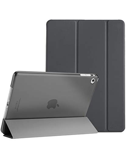 ProCase Smart Case for iPad Air 2 (2014 Release), Ultra Slim Lightweight Stand Protective Case Shell with Translucent Frosted Back Cover for Apple iPad Air 2 (A1566 A1567) -Grey