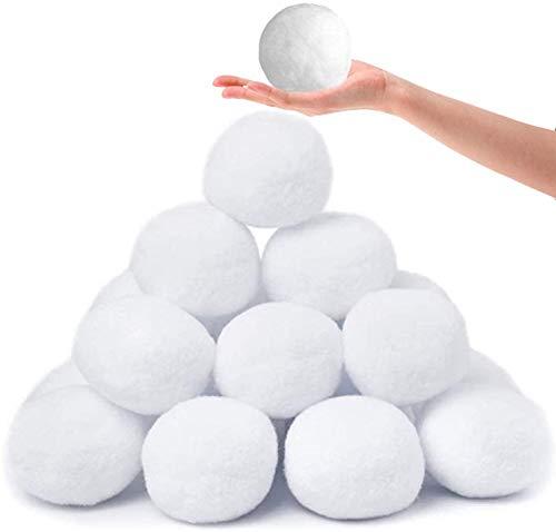 MBEN 30 PCS Nieve Bolas de Juguete, 2.9in Falso Bola de Nieve de Juguete para niños Snow Fight para el Equipo en Interiores o Exteriores Juego Blanco Niños de Bola Suave del paño del Segura