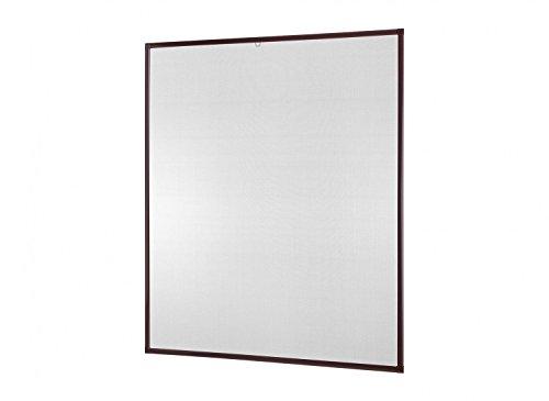 empasa Insektenschutz Fliegengitter Fenster Alurahmen Basic Selbstbausatz weiß, braun oder anthrazit, in verschiedenen Größen, ohne Bohren und Schrauben