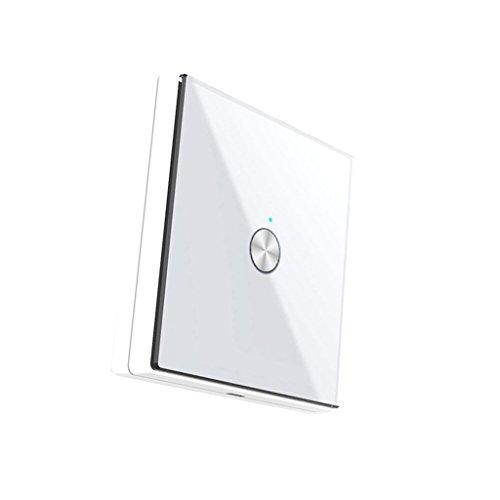 D DOLITY Wandschalter Akustikschalter 1CH Lichtschalter Sound Sensor Licht (Farben auswählen) - Weiß