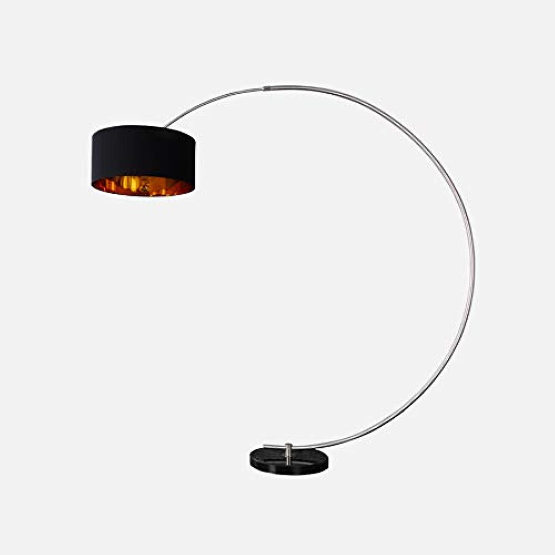 Design Bogenlampe PYTHON in schwarz Gold Bogenleuchte mit Dimmer Stehleuchte