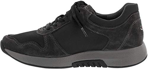 Gabor Damen Low-Top Sneaker 36.946, Frauen Sneaker,Halbschuh,Schnürschuh,Strassenschuh,Business,Freizeit,Dark-Grey,40.5 EU / 7 UK
