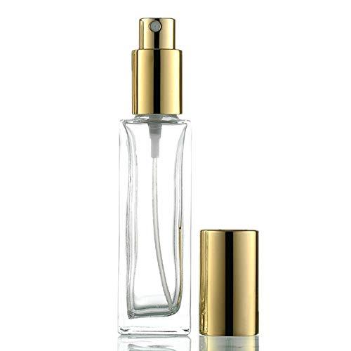WESDOO Atomiseur Parfum Vaporisateur Vide Parfum Pression Vaporisateur Vaporisateur Vide Bouteille Flacon Pulvérisateur à Main Atomiseur Fine Brume Gold