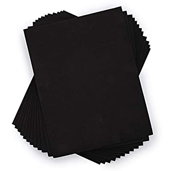 Time 4 Crafts 12-Piece Craft EVA Foam Sheets 9 x 12 inches Black