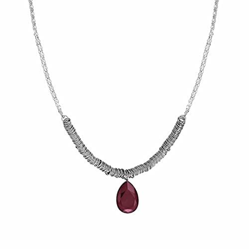 Collar Nomination Colección Allure para mujer en Acero con Cristal Burdeos. Longitud 45, adaptable a 54 cm. Made in Italy.