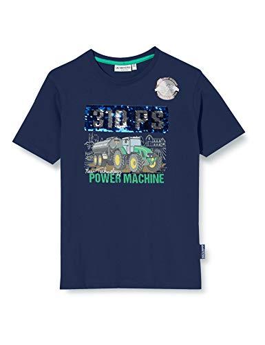 Salt & Pepper Jungen 03112166 T-Shirt, Blau (Classic Blue 474), 116 (Herstellergröße: 116/122)