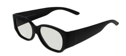 6 x 3D Brille von EX3D Eyewear /TH0001/Schwarz/Polarisationsbrille/angenehm zu tragen/für alle passiven 3-D fähigen Geräte z.B. Kino, TV,PC, Gaming
