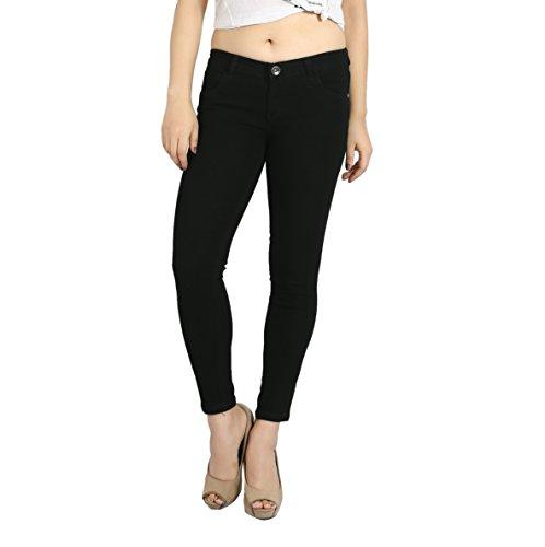 FCK-3 Black Color Knitted Hosiery Stretchable Denim Ankle Length Slim...
