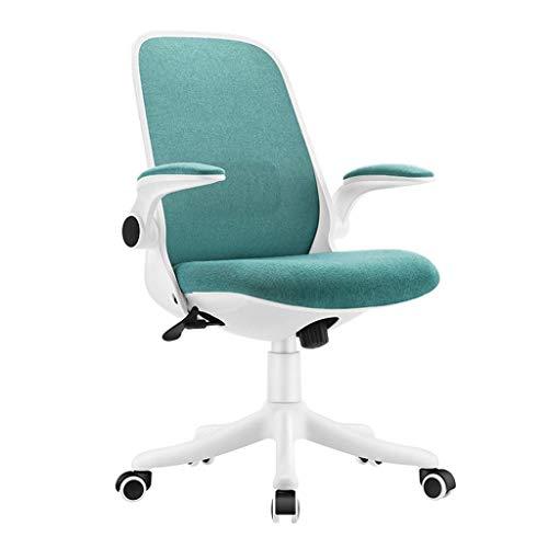 WSDSX Desk Chair,Computer Schreibtischstuhl Drehbarer Stoff Home Office Arbeitsstuhl mit Armlehnen und Verstellbarer Höhe, ergonomischer Bürostuhl mit hoher Rückenlehne, grün