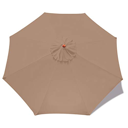 ABCCANOPY 7.5ft Outdoor Umbrella Replacement Top Patio Umbrella Market Umbrella Replacement Canopy with 8 Ribs