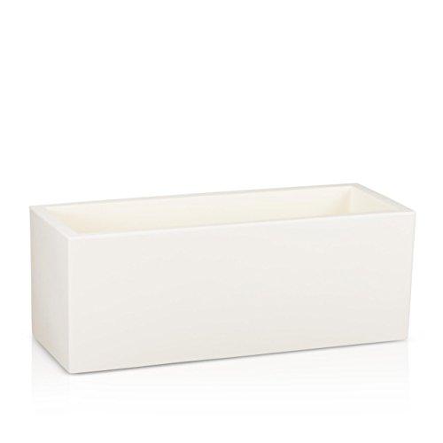 Fioriera in resina MURO 50, 120x50x50 cm, bianco opaco