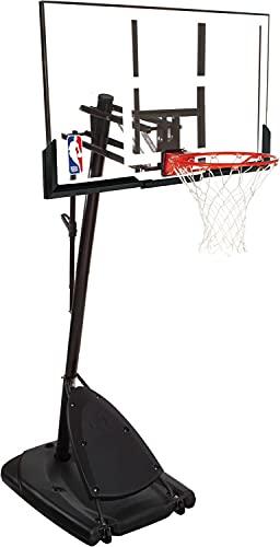 Spalding Basketballanlage NBA Gold Portable - transparent