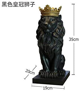Statue - Modern Abstract Geometric Resin Lion Figurines Animal Statue Mountain Lion Sculpture Indoor Statues Home Decorations Crafts - by MINIATURE.1-1 Pcs - White Lion Statue