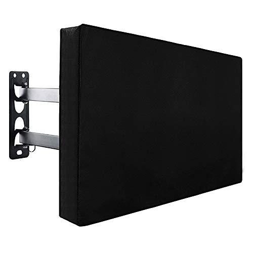 YNES Outdoor-TV-Cover, Haltbar und bequem, Wasserdicht Schnee Staub Wind-Beweis, for Terrasse, Außen (Color : Black, Size : 40×43in)