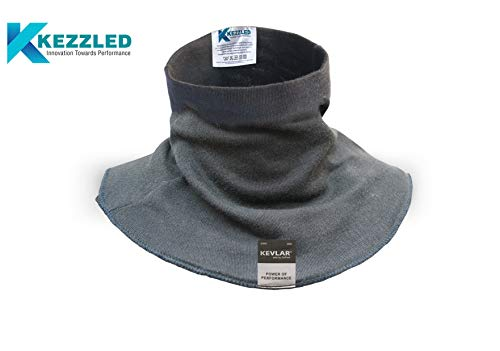 KEZZLED Welding Neck Protector- Cut, Scratch, Heat & Flame Resistant Neck Protection, Neck Gaiter- Made of 100% Kevlar by DuPont with added UV Rays, Sun, Cooling Protection for Men & Women (Black)