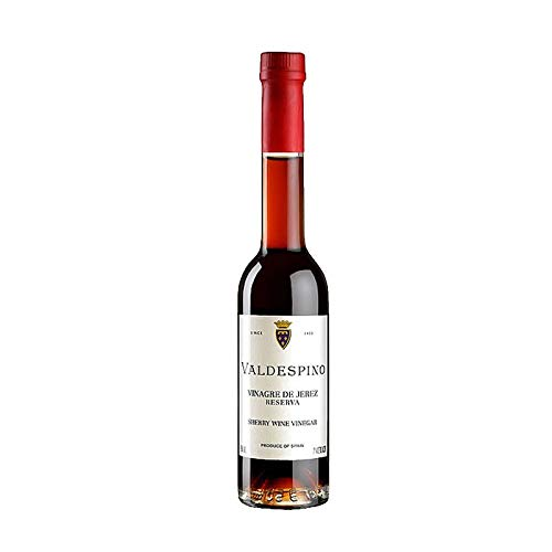 Vinagre de Jerez Reserva Valdespino de 250 ml - D.O. Jerez - Bodegas Grupo Estevez (Pack de 1 botella)