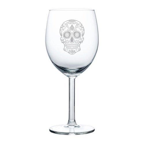 Weinglas mit Totenkopf-Motiv, 325 ml