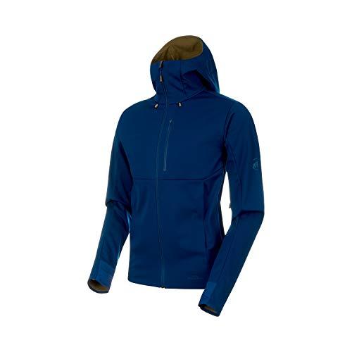 Mammut Herren Ultimat V Hooded Softshell-Jacke mit Kapuze, Poseidon-Olive, XL