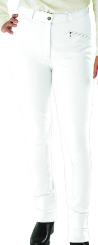 Toggi Fenton - Pantaloni da equitazione modello jodhpur da donna, Bianco, 71 cm