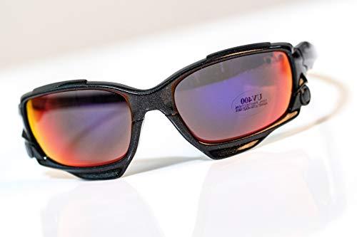 IDIO - Gafas de Sol Deportivas - Protección UV400 (Negro - Cristal...