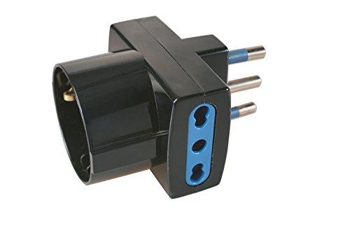 Poly Pool, Adapter, dreifach, großer Stecker, schwarz, PP0468.1S