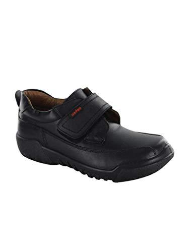 Audaz Zapatos Escolares para Niño Choclo Fabricados En Piel Color Negro con Ajuste De Velcro 21