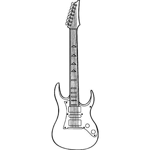 Azeeda A7 'Gitarre' Stempel (Unmontiert) (RS00000449)
