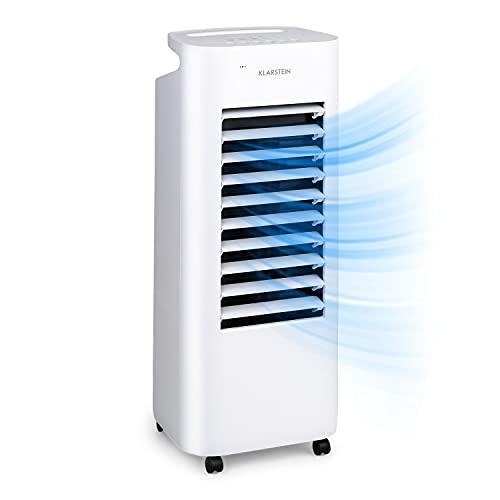 KLARSTEIN IceWind Max - Raffrescatore Evaporativo 3in1: Raffrescatore/Ventilatore/Umidificatore, Flusso: 330 m³/h, 60 Watt, NatureWind Function: 4 Velocità/3 Modalità, Bianco