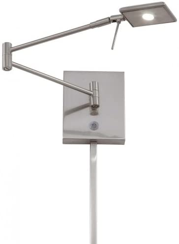 George Kovacs P4328 084 Georges Reading Room 1 Light LED Swing Arm Wall Lamp Brushed Nickel product image