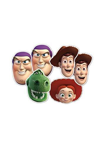 STAR CUTOUTS–stsmp55–6máscaras para Adulto Diferentes Personajes–Toy Story–Talla única