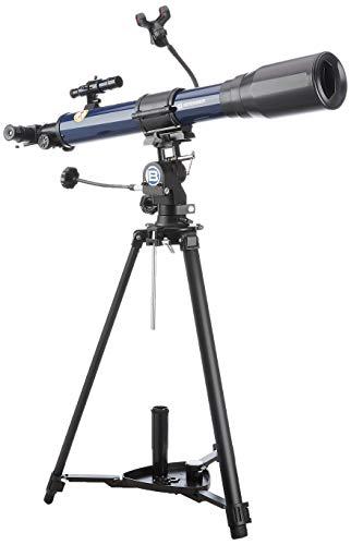 Bresser SKYLUX 9618760LC1000 - Telescopio con supporto per smartphone e filtro solare, 70 700 mm, colore: Blu scuro