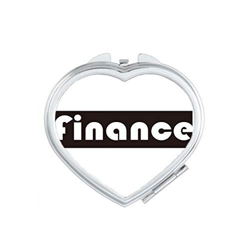 DIYthinker Cours et Major Finance Rouge Heart Maquillage Compact Miroir de Poche Portable Mignon Petit Cadeau Miroirs Main Multicolor