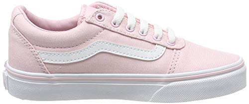 Vans Ward Canvas, Mädchen Bas, Pink ((Canvas) Chalk Pink Vuz), 35 EU (3 UK)