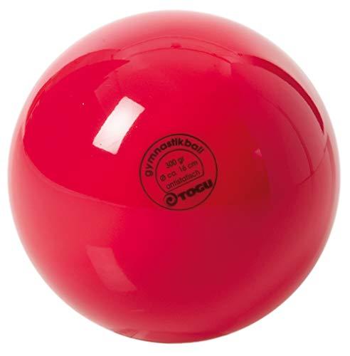TOGU Unisex– Erwachsene Gymnastikball Standard Unlackiert, Rot, 16