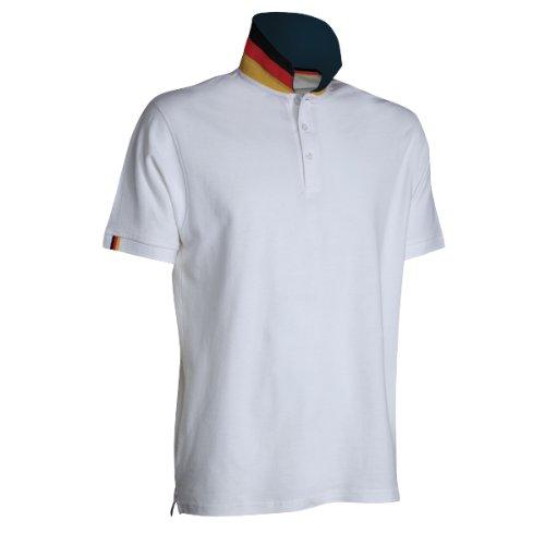 Allemagne-Polo-Homme-Le t-Shirt de Supporter de la Coupe du Monde de Football Unique flippigen col.