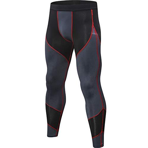 Herr sport kompression tights fitness löpning träning, andas, snabbtorkande tighta byxor herr...