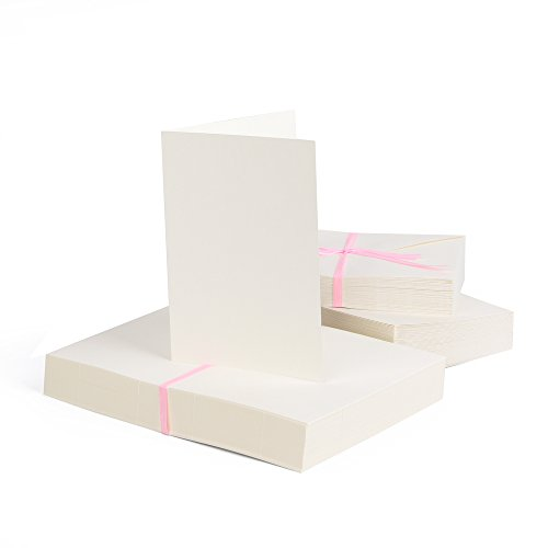 Jumbo-Set 100 x Faltkarten DIN A6, 105 x 148 mm + 100 x Umschläge, bunt