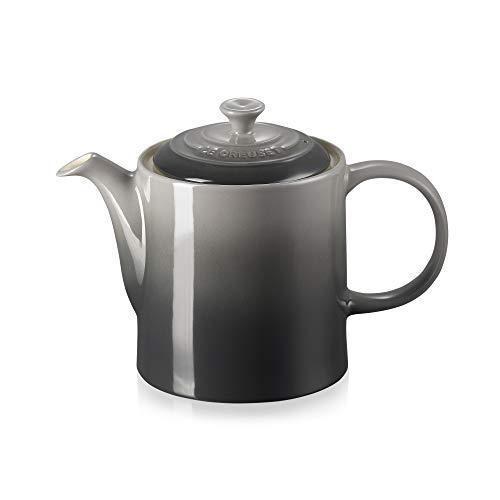 Le Creuset Klassische Teekanne, Rund, 1,3 Liter, Steinzeug, Flint