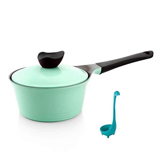 Mini molde de leche Pan de leche Cerámica de cerámica Salsa sin paletas para bebé, Stefan con asa ergonómica, cocina de inducción, verde lucar