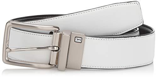 PGA TOUR Comfort Strap Reversible Men's Golf Belt, White, 36
