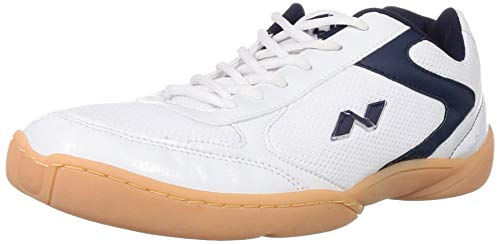 Nivia Flash Badminton Flash Shoes, Men's UK 7 (White/Blue)