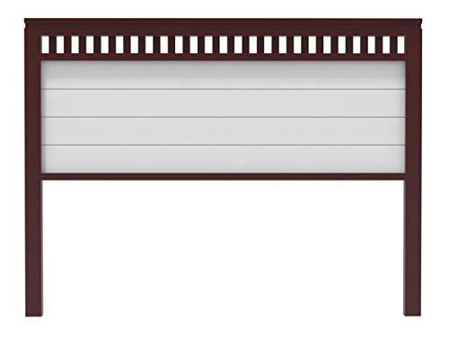 PEJECAR cabecero Modelo Bora para Cama de 135 Fabricado en Madera Maciza de Pino insigni Acabado Combinado Nogal Blanco