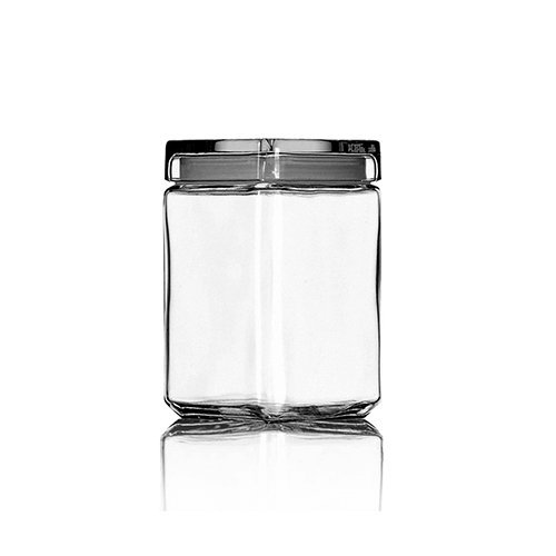 Anchor Hocking Stackable Jar w/Glass Lid, 1.5-Quart